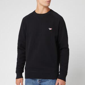 Maison Kitsuné Men's Sweatshirt Tricolor Fox Patch - Black