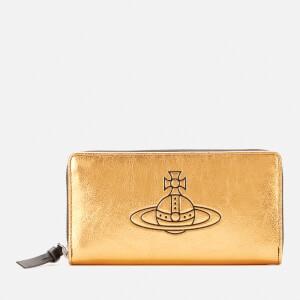 Vivienne Westwood Women's Anna Zip Round Wallet - Gold