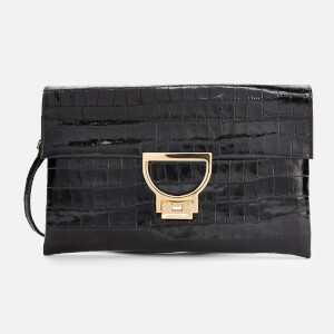Coccinelle Women's Arlettis Croco Clutch Bag - Black