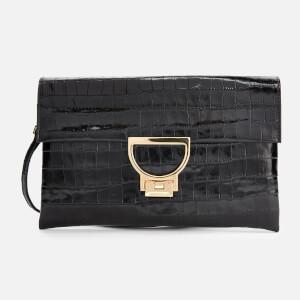 Coccinelle Women's Arlettis Croco Clutch Bag - Black