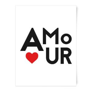 Amour Block Art Print