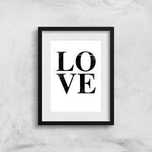 Love Textured Art Print