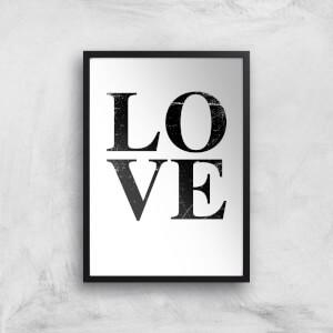 Love Textured Art Print