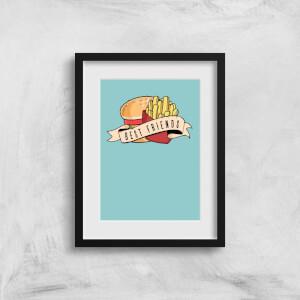 Fast Food Friends Art Print