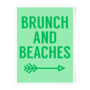 Brunch And Beaches Art Print
