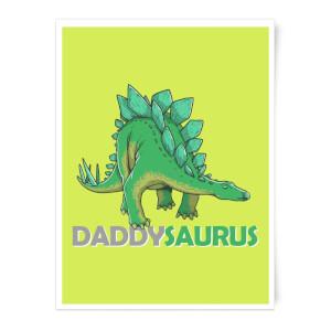 Daddysaurus Art Print