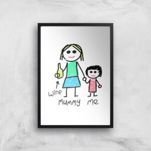 Mummy & Me Art Print