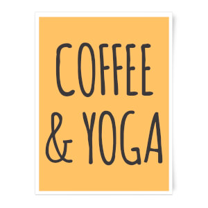 Coffee And Yoga Art Print