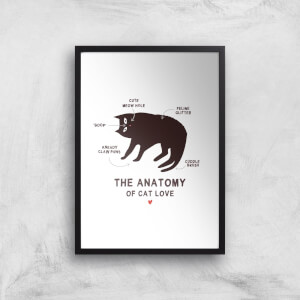 The Anatomy Of Cat Love Art Print