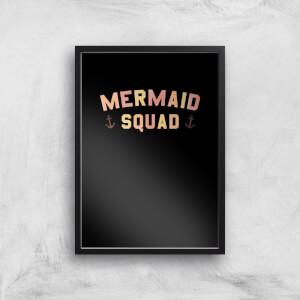Mermaid Quad Art Print