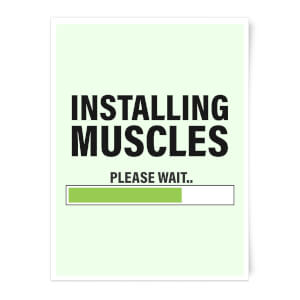 Installing Muscles Art Print