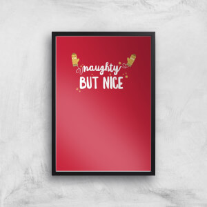 Christmas Naughty But Nice Art Print