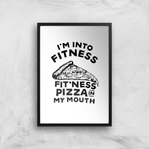 Fitness Pizza Art Print