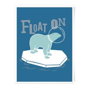 Polar Bear Float On Art Print