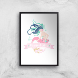 Mermaid Vibes Art Print