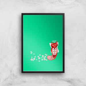 Flower Fox Art Print