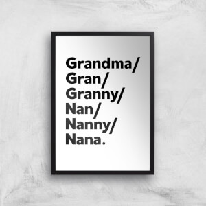 Gran's And Nan's Art Print