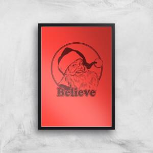 Believe Red Art Print