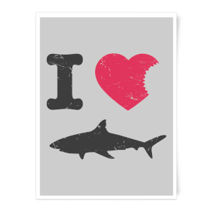 I Love Sharks Art Print