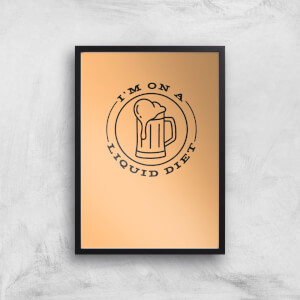 Liquid Diet Beer Art Print