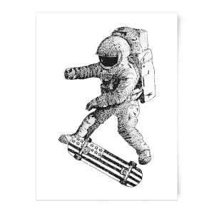 Kickflip In Space Art Print