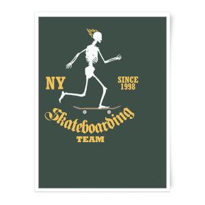 Skateboarding Team Art Print