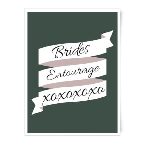 Brides Entourage Art Print