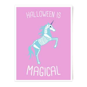 Unicorn Skeleton Art Print