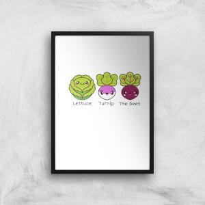 Turnip The Beet Art Print