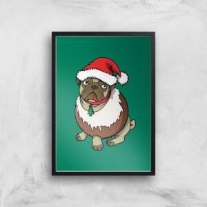 Christmas Puggin Art Print