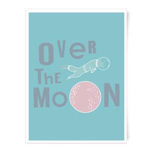 Over The Moon Art Print