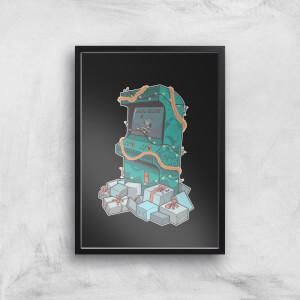 Arcade Tress Art Print