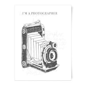 Photography Vintage Scribble Art Print
