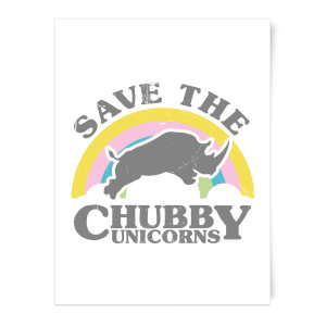 Save The Chubby Unicorns Art Print