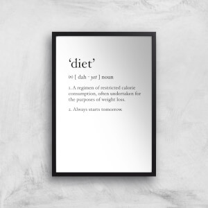 Dictionary Diet Art Print