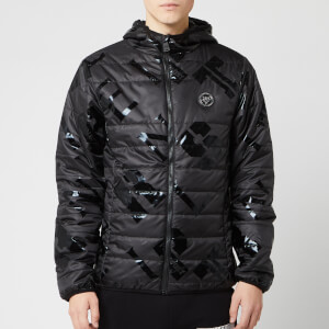 Plein Sport Men's All Over Logo Jacket - Black