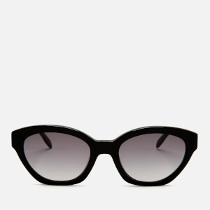 Karl Lagerfeld Women's Oval Frame Sunglasses - Black