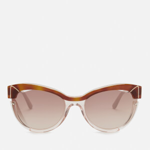 Karl Lagerfeld Women's Cat Eye Frame Sunglasses - Blonde Havana/Pink