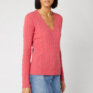 Polo Ralph Lauren Women's Kimberly Classic Long Sleeve Jumper - Geranium Heather
