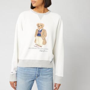 Polo Ralph Lauren Women's Bear Long Sleeve Sweatshirt - Deckwash White