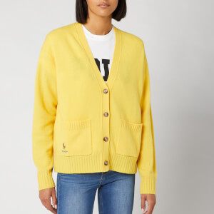 Polo Ralph Lauren Women's Long Sleeve Cardigan - Racing Yellow