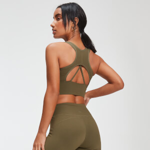 Power Longline Sports Bra - Avocado