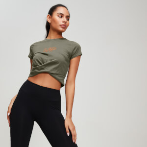 MP Rest Day Women's Twist Front T-Shirt - Avocado