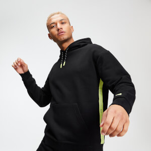 Rest Day Men's Tape Hoodie - Black