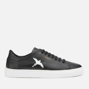 Axel Arigato Men's Clean 90 Taped Bird Leather Cupsole Trainers - Black/Black