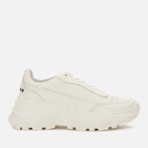 Joshua Sanders Women's Donna Classic Leather Running Style Trainers - White