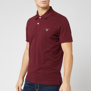 GANT Men's Original Pique Polo Shirt - Port Red