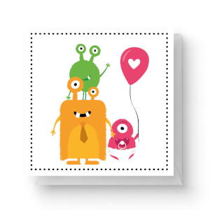 Alien Family Square Greetings Card (14.8cm x 14.8cm)