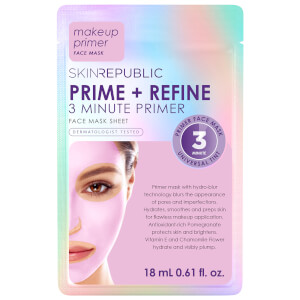 Skin Republic Face Sheet Mask Prime + Refine 3 Minute Primer 18ml (Pack of 10)
