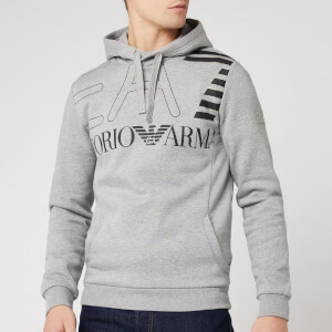 Emporio Armani EA7 Men's Large Logo Hoodie - Light Grey Heather